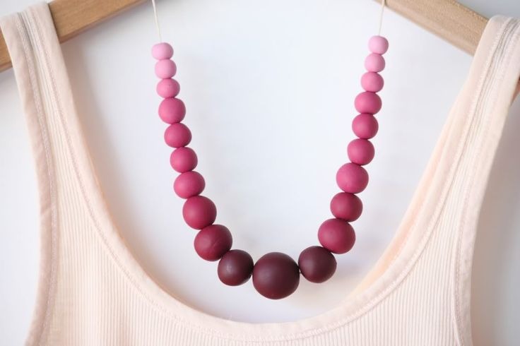 Ombre Clay Beaded Necklace | Maker Crate