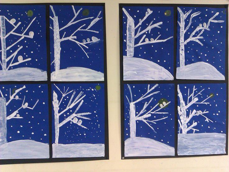 Sneeuwuiltjes - via tekenenenzo - Meestertim.nl