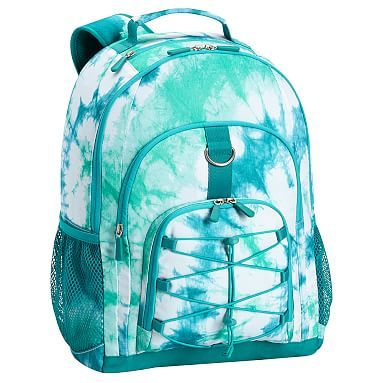 Super cute backpack for girls without-the-girly! Gear-Up Ceramic Pool Tie-Dye Backpack from #pbteen!