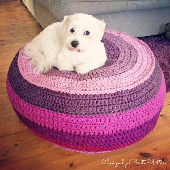 Dog Crochet Ottoman Free Pattern