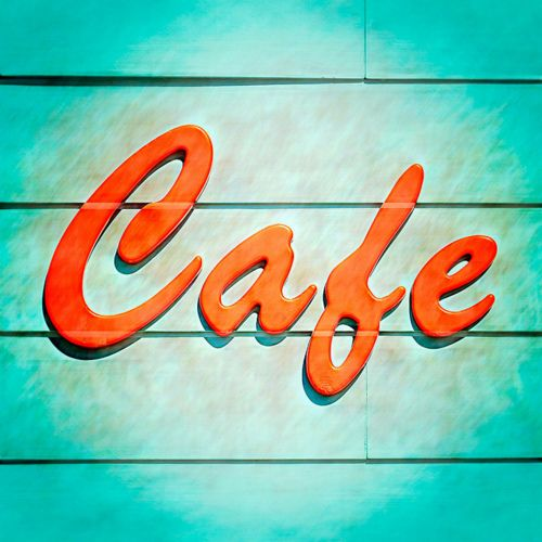 Cafe. by eyetwist.Design Inspiration, Colors Combos, Vintage Typography, Santa Monica, Mania 136, Vintage Signs, Graphics Design, Typography Mania, Amanda Design
