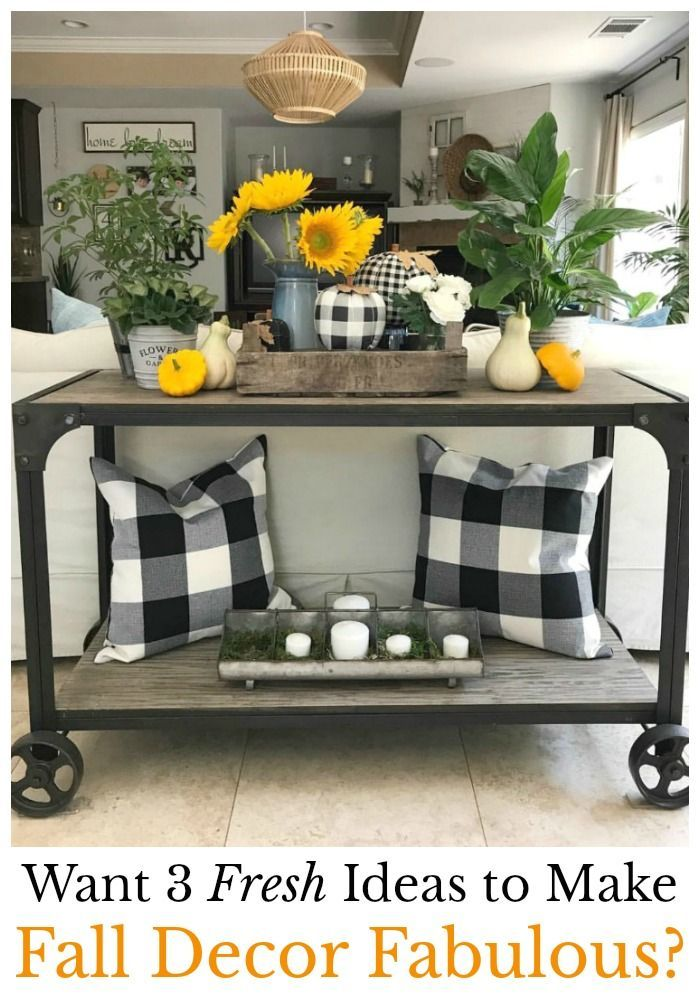 The Design Twins Fall Home Tour Reveals Their 3 Fresh Fun Fabulous Fall Decor Ideas That Make Decorating For F Sunflower Home Decor Summer Home Decor Decor #sunflower #living #room #decor #ideas