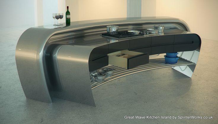 Great Wave kitchen Island
