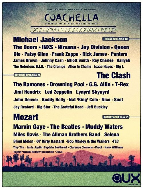 get your tickets: Exclusively Hologram, Coachella2013, Hologram Lineup, 2013 Lineup, Funny Stuff, Coachella Hologram, Hologram Coachella, Coachella Lineup, Coachella 2013