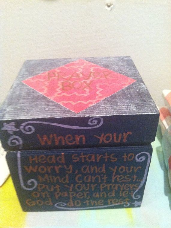 Prayer boxes make wonderful gifts.  Use for any occasion you might normally send a greeting card... Love the saying on the box!