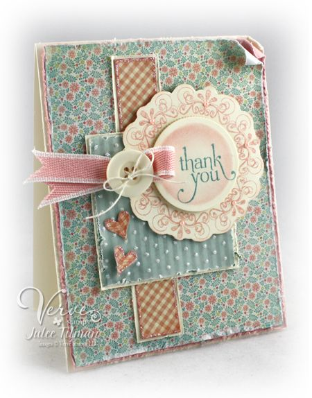 Mojo Monday Card. Scrap paper. this site has lots of good color pairings.