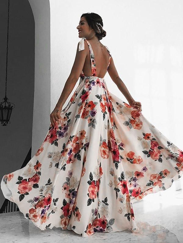 ff08150afd Bohemia Floral Backless Maxi Dress in 2019