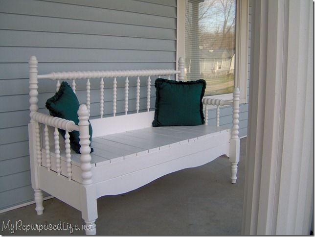 Benches from Wooden bed steads.Headboard Benches, Benches Tutorials, Diy Headboards, Repurpoed Headboards, Beds Frames, Beds Benches, Furniture Ideas, Beds Headboards, Headboards Benches