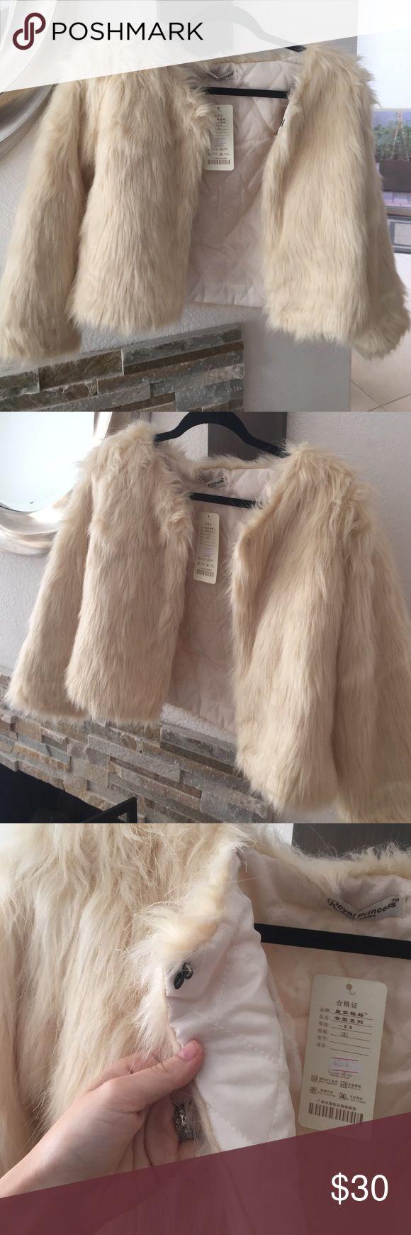 NWT- Faux Fur Crop Jacket NWT Faux Fur Cropped Jacket Jackets & Coats