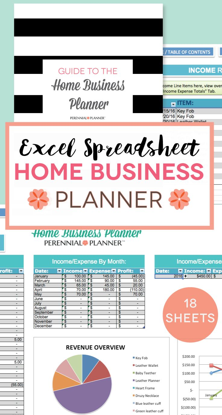 A business planner to fit your home business, AND that you can use year after year!