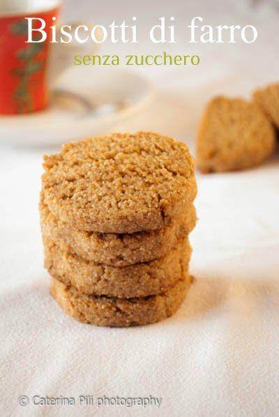 Biscotti di farro senza zucchero,ricetta vegana