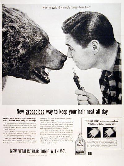 1955 Vitalis Hair Tonic #006838