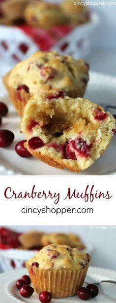 Cranberry Muffins Recipe- If you are looking for a great Cranberry Muffins Recipe look no further! This recipe is simple and perfect for breakfasts or desserts.