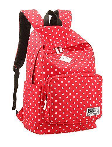 Amazon.com: Korean Polka Dot School Backpack Rucksack Laptop Book Shoulder Bag Travel Knapsack