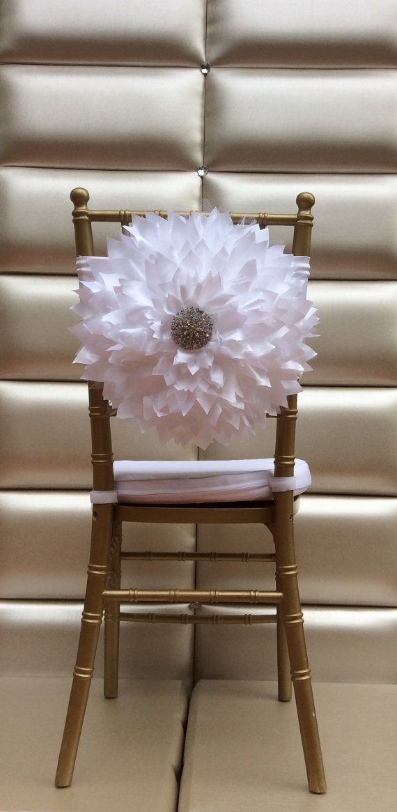 Chair coverwedding chair cover wedding chair by FloraRosaDesign