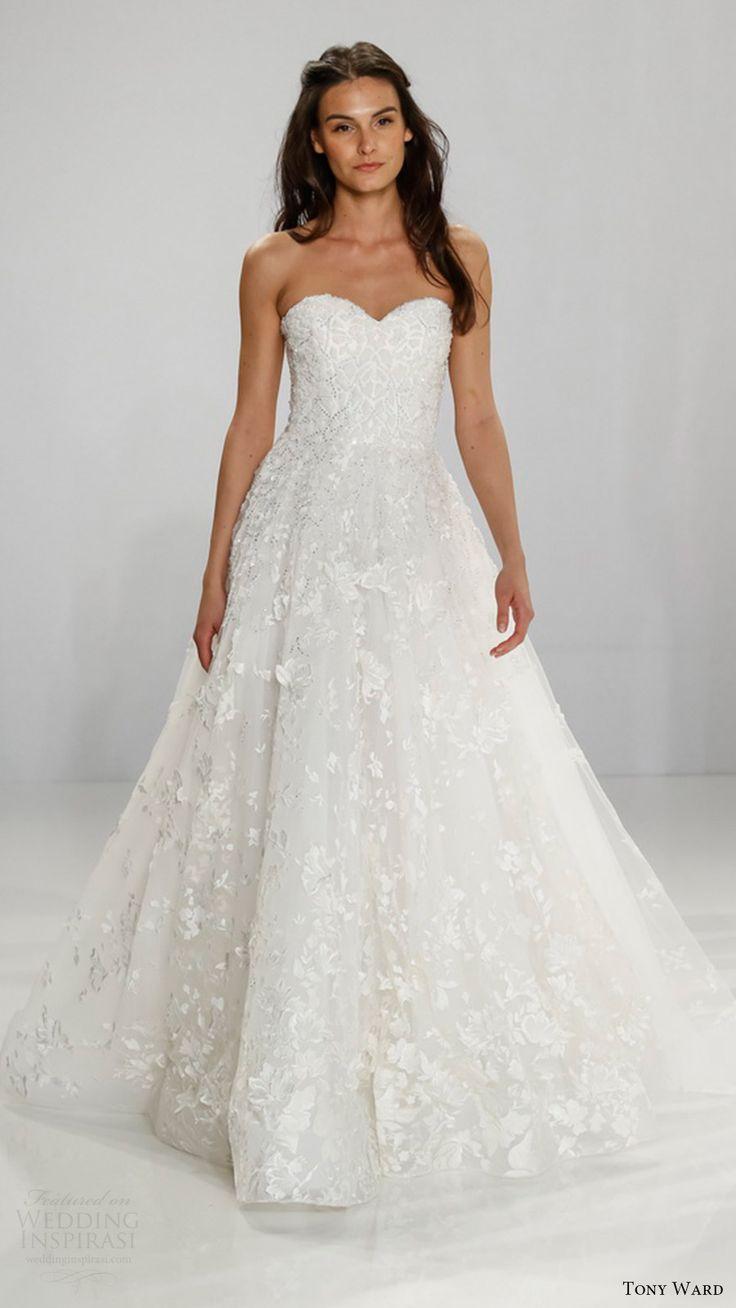 tony ward bridal 2017 strapless sweetheart aline wedding dress (caireen) mv