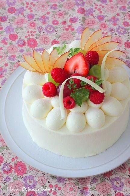 애플 베리 생크림 케이크