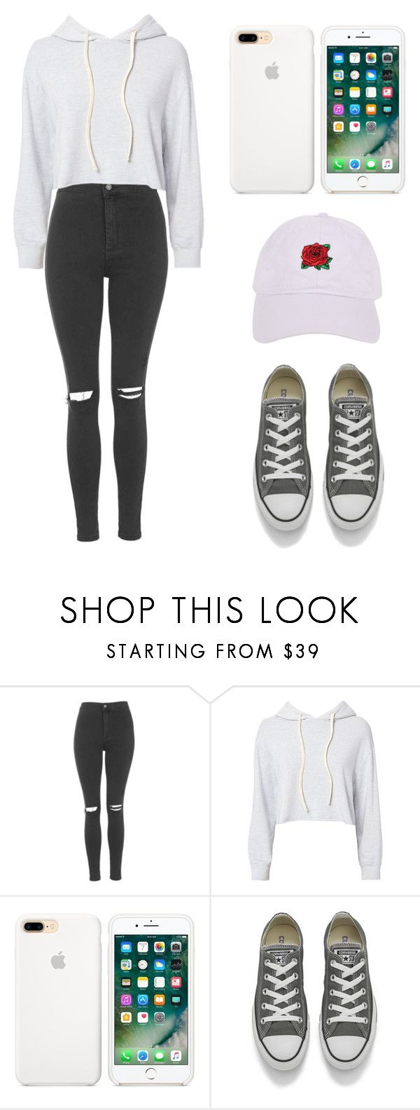 """""""13"""" by sacirao ❤ liked on Polyvore featuring Topshop, Monrow, Converse and Armitage Avenue"""
