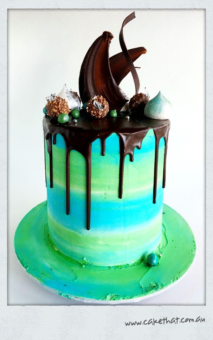 Bright drip cake