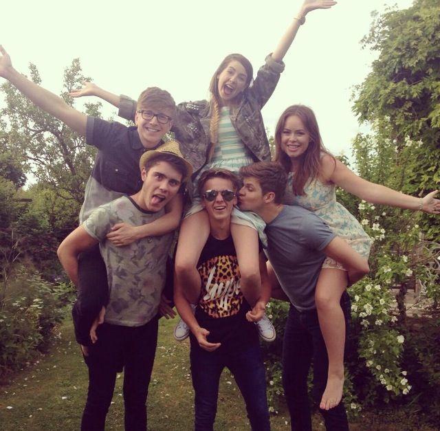 Zoe, Tyler, Tanya, Alfie, joe and Jim i Wish i had a friendship like them all