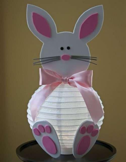 Lavoretti di Pasqua per bambini dell'asilo nido - Coniglio fai da te
