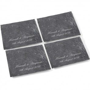 personalised coasters made from slate