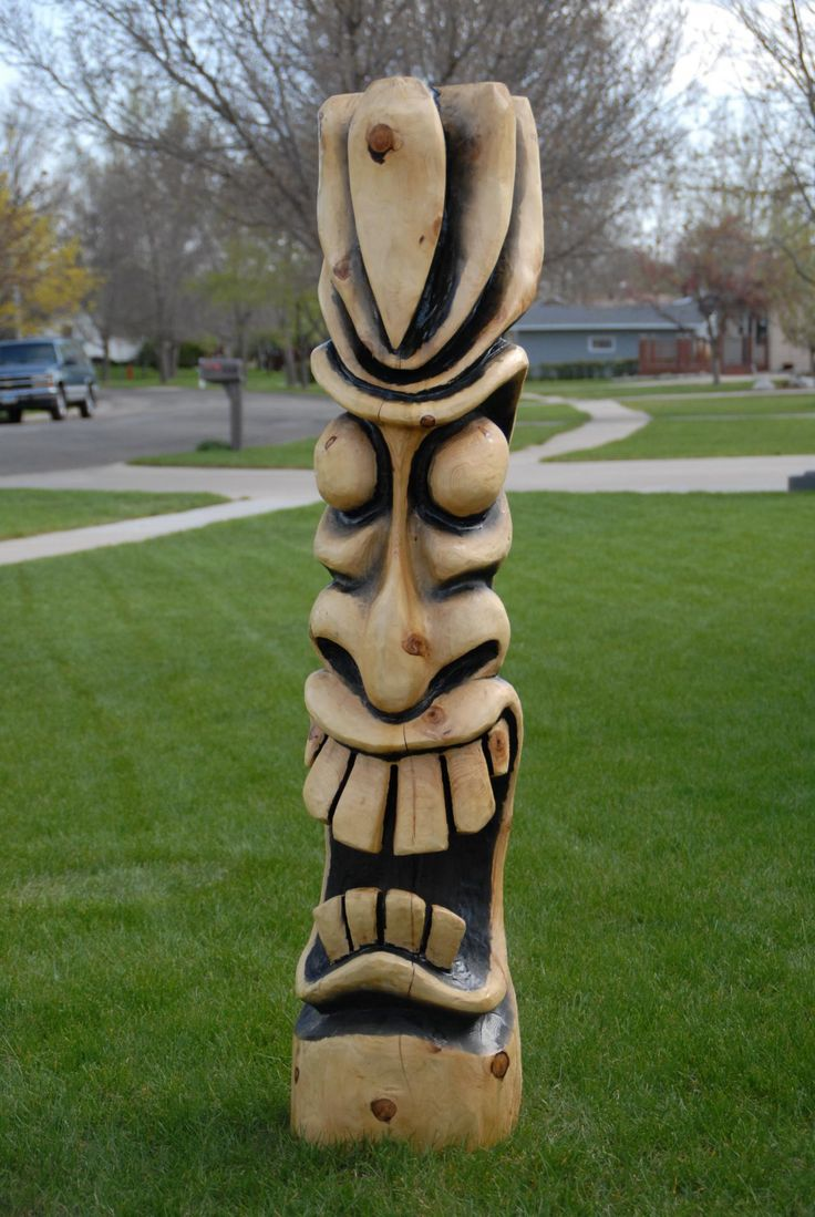 Best tiki wood carving images on pinterest tree