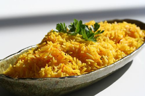 *MADE* Saffron Rice: Making tonight to go along with grilled veggies and peach raspberry sangria! *note to self: add peas & carrots* Mmmmm  So simple and easy and everyone loved it!