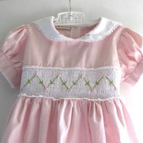Pretty Pink Vintage Girls Dress. pretty sure my sisters and I had this dress!