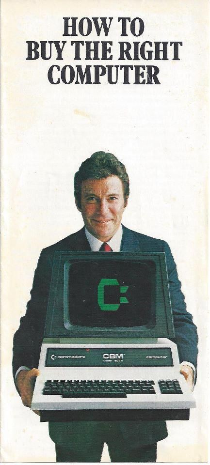 #Shatner showing us the #future: Commodore Computers. #nostalgia