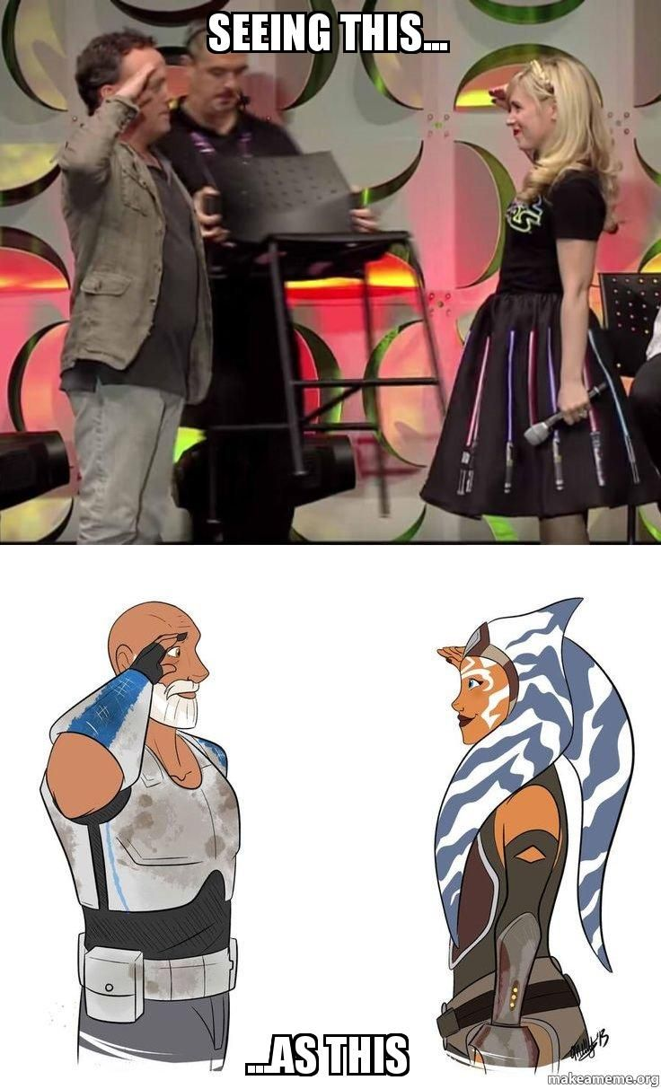 You know you're a Clone Wars / Rebels fan when.......