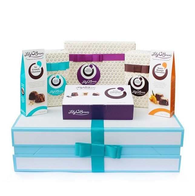 Chocolate Hamper to Treat, 6 Collections available at LilyOBriens.ie