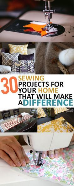 30 Sewing Projects that you need in your home- sewing DIY projects, homemade…