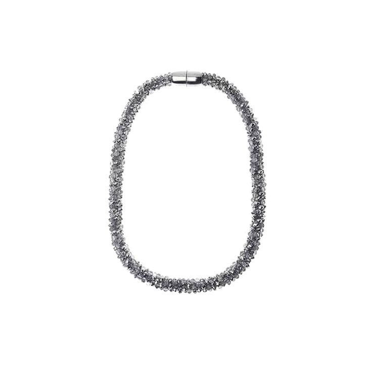 Jeminee Jewellery London Mala silver Necklace Stardust Swarovski Crystals | This would makes a great gift idea and comes with a matching bracelet