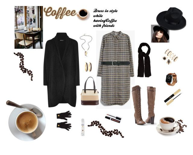 """Coffee Shop Style"" by rebeccadavisblogger ❤ liked on Polyvore featuring Ganni, M&Co, Venus, Maje, Chan Luu, Chico's, Salvatore Ferragamo, James Perse, Chanel and Coffee Shop"