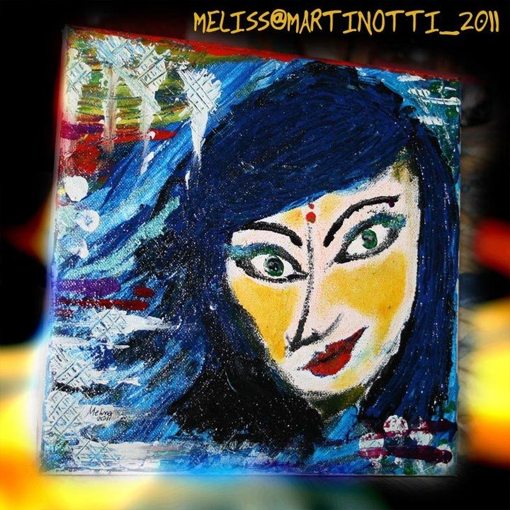 look at me! canvas 20x20cm