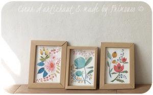Cadre en papier, tutoriel Coeur d'artichaut©. Aquarelles made by Frimouss©