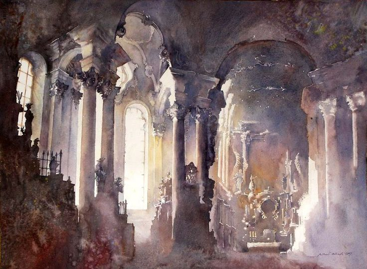 """Wieskirche"" love the watercolor"