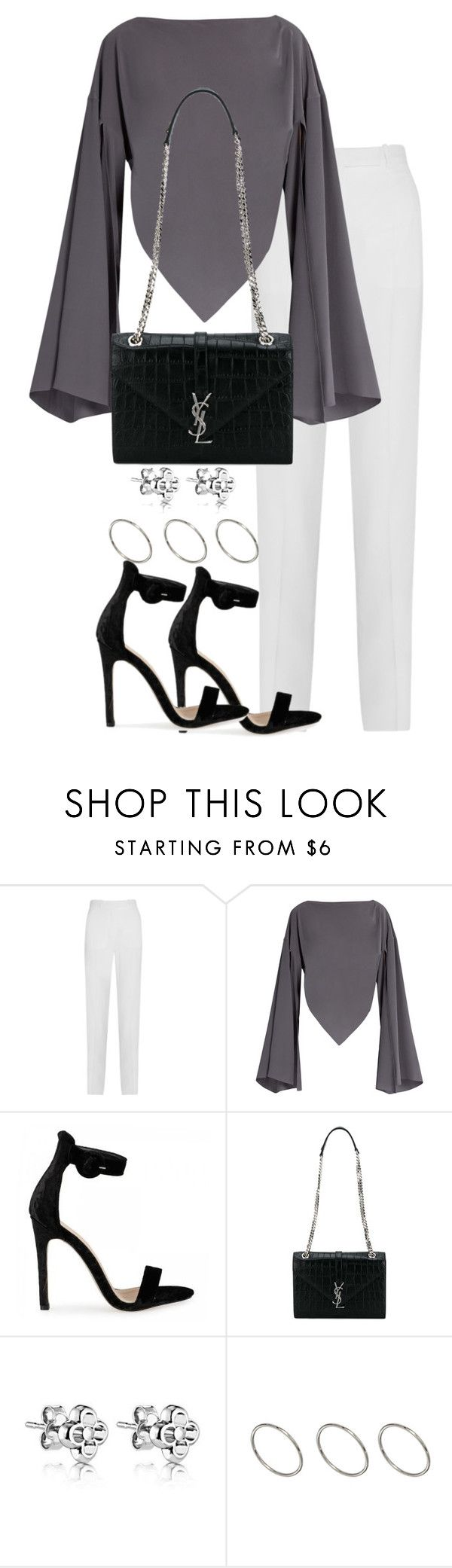 """""""Untitled #2954"""" by theeuropeancloset ❤ liked on Polyvore featuring Givenchy, Balenciaga, Yves Saint Laurent and ASOS"""
