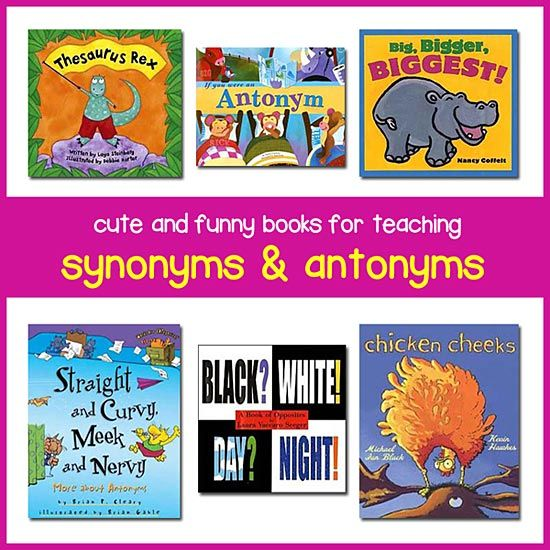 This page lists fun and clever children's books for teaching antonyms and synonyms to children in K-Grade 4. These books make learning this subject even more fun!