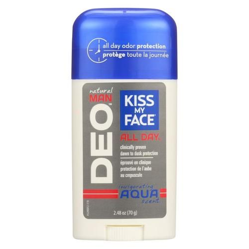 Kiss My Face Men's Deodorant - Case Of 1 - 2.48 Oz.