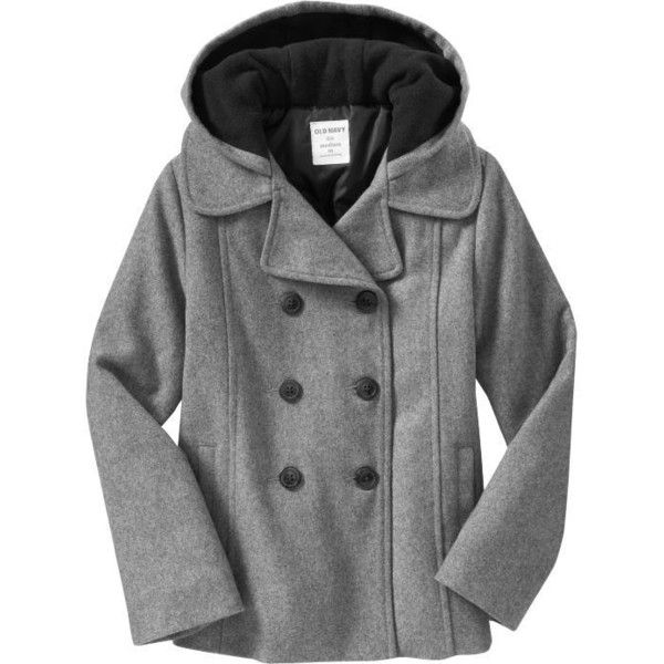 Old Navy Girls Woolblend Peacoats ($40) ❤ liked on Polyvore featuring girls and kids