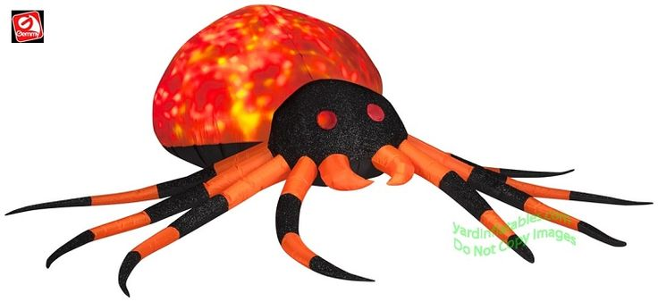 Gemmy Airblown Inflatable Fire & Ice Mixed Media Orange ...