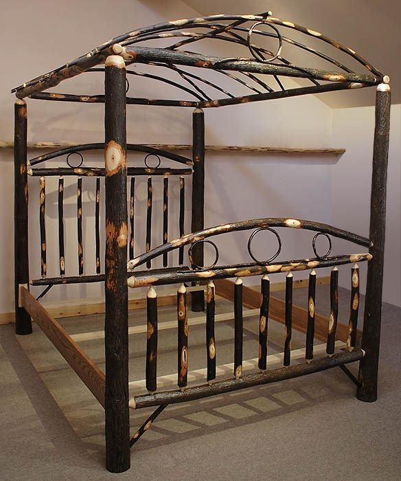 Rustic Old World Hickory - Hickory Canopy Bed ...sweet dreams in your  Kachina - 13 Best Log Canopy Beds Images On Pinterest Canopies, 3/4 Beds
