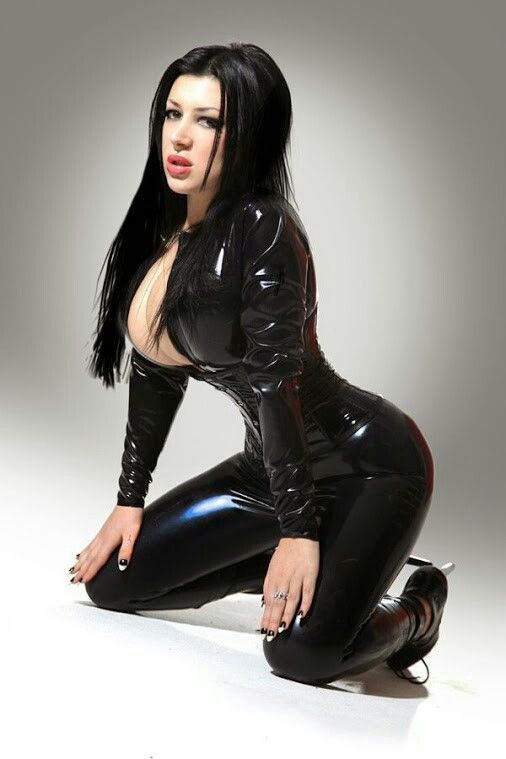 big tits in clear latex - Singer and model Collagen Westwood (collagenwestwood.com) in a latex  catsuit and corset