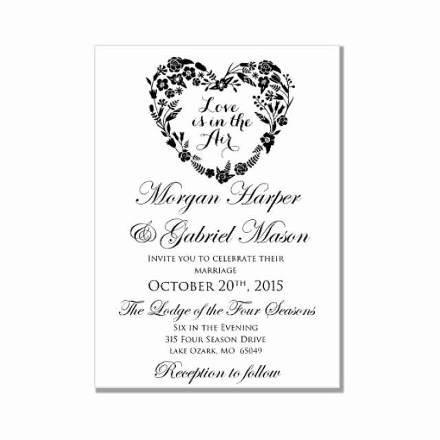 Wedding Invitation Template Microsoft Word Beautiful Weddi In 2020 Wedding Invitations Printable Templates Blank Wedding Invitation Templates Invitation Templates Word