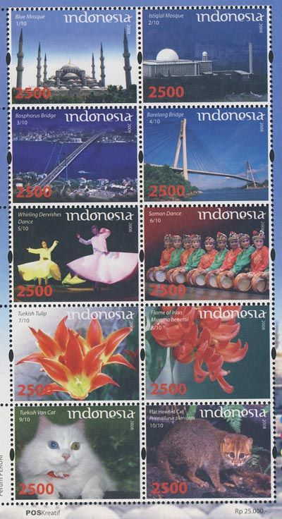 2008 Relationship between Indonesia and Turkey. Issued date: 24 October 2008.