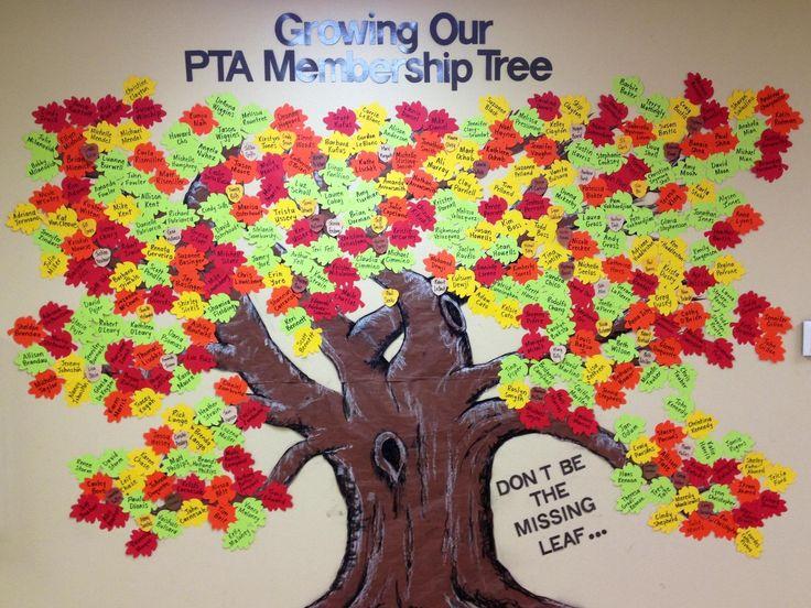 A neighboring school, Sabal Point Elementary's PTA membership tree. Awesome!