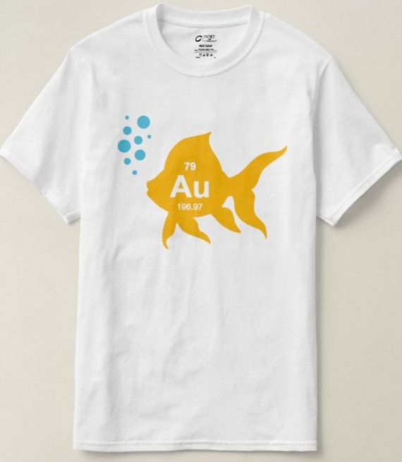 Periodic Table T Shirt - Funny Mens T Shirts, Gold Fish, AU Fish Shirt, Mens Science Shirt, Shirts For Him, College Shirts