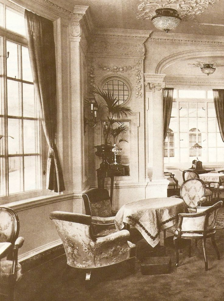 First Class reading and writing room on board RMS Titanic